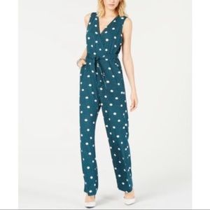 New NY Collection Printed polka dot jumpsuit PL